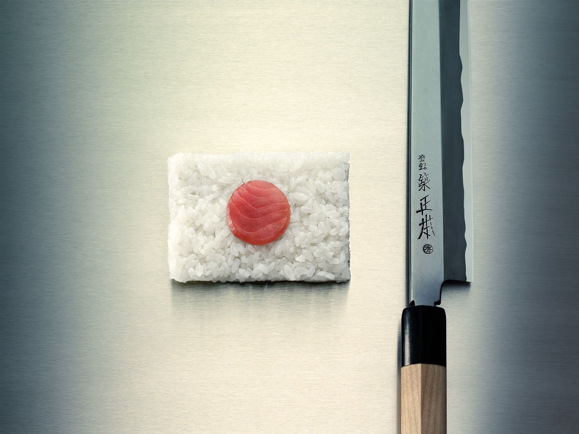 Sushi; Japan; tuna; knife; still life; rice; flag; Japanese flag; Room; clean; carpet; car; doors; stereo; Bose; sound; system; 3D; cgi; kamer; geluid; systeem; auto; deuren; Renault; megane